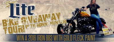 Miller Lite Bike Giveaway Tour With Ronni Hunter!