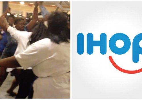 Sister Brawl at iHOP
